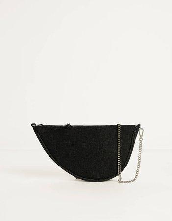 Handbag with chain strap - New - Bershka United States black