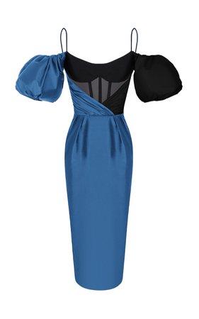Rasario Off-The-Shoulder Silk-Blend Dress Size: 38
