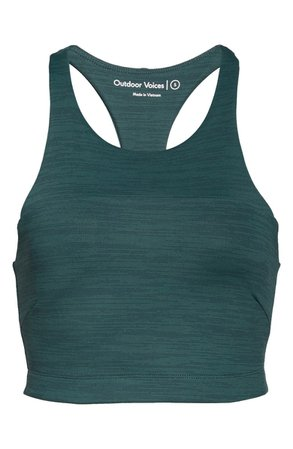 Outdoor Voices Move Free Crop Top | green