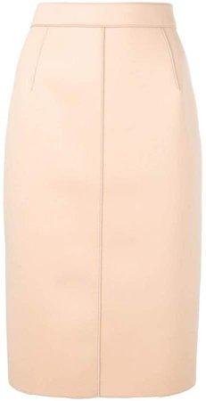 high-waist fitted skirt
