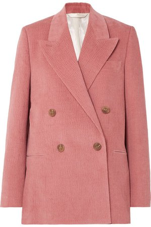 Acne Studios | Double-breasted cotton-blend corduroy blazer | NET-A-PORTER.COM