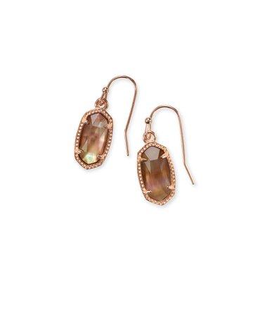 Lee Rose Gold Drop Earrings Brown Pearl | Kendra Scott