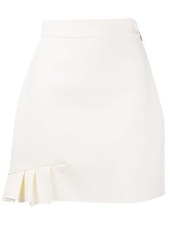 MSGM pleat-detail A-line skirt white