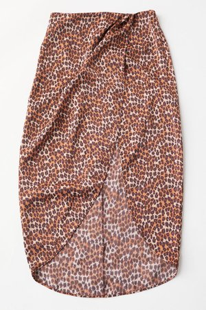 UO Kelly Tulip Wrap Midi Skirt | Urban Outfitters