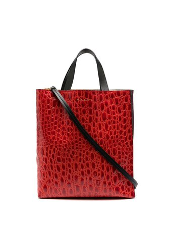 Marni, Museo crocodile-effect Tote Bag