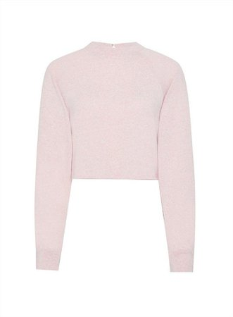 Pink Marl Crop Funnel Neck Top | Miss Selfridge