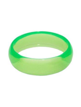 80s Bangle | 1980's Costume Bracelet | 1980's Neon Green Bangle
