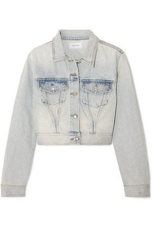 Current/Elliott | The Micro Corset Trucker cropped denim jacket | NET-A-PORTER.COM