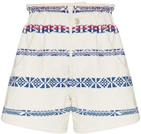 Baixa embroidered shorts