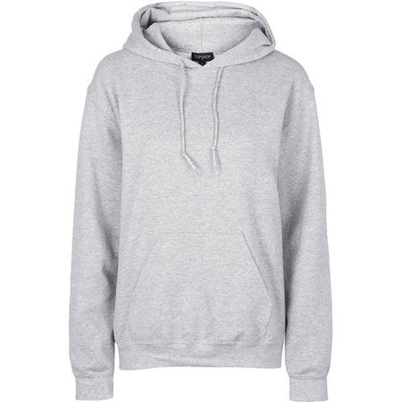 Men's Oversized Hoodie- Plain Grey