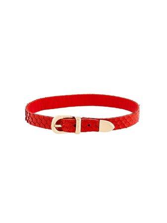Manokhi Buckled Choker MANO31 Red   Farfetch