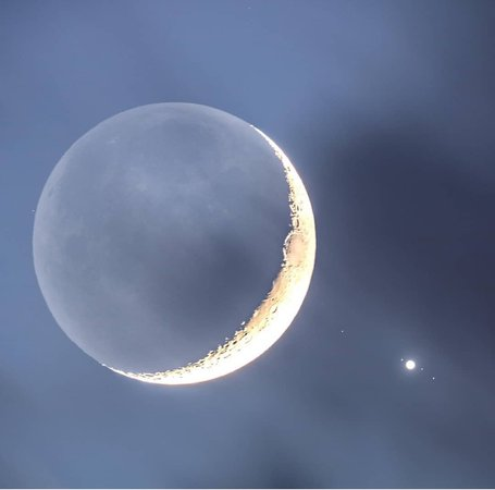 moon, jupiter and its Gallilean moons