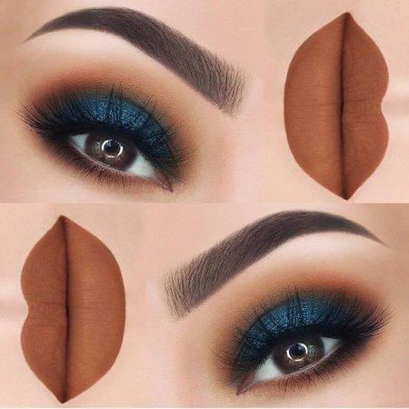 Navy Blue Makeup