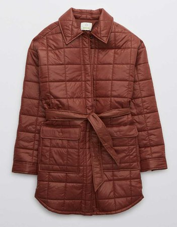 OFFLINE Quilted Long Puffer Coat