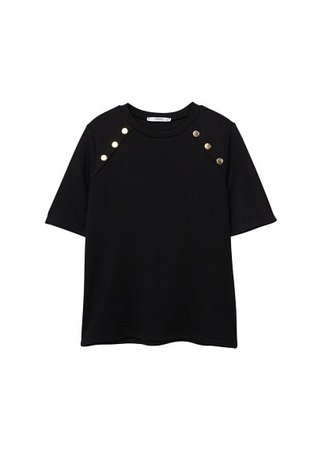 MANGO Side snap t-shirt