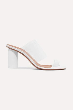Chost Leather And Pvc Sandals - White