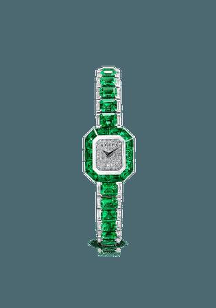 Vendome ladies emerald & diamond watch