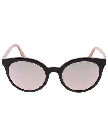 Black and Pink Acetate Cat Eye Sunglasses | Marissa Collections