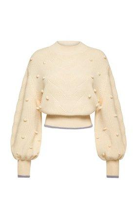 Embroidered Cable-Knit Wool Sweater By Alémais | Moda Operandi