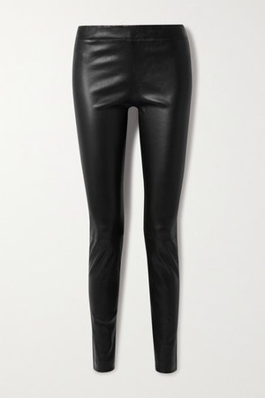 Moto Leather Leggings - Black