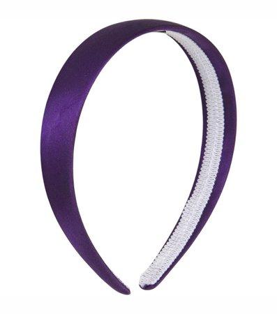 Purple Thick Satin Headband