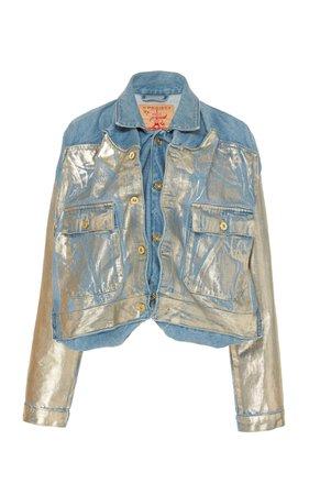 Metallic Foiled Denim Jacket by Y/Project | Moda Operandi