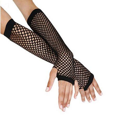 Women Fingerless Gloves Stylish Long Black Fishnet Gloves Girls Dance Gothic Punk Rock Costume Fancy Gloves-in Women's Gloves from Apparel Accessories on AliExpress - 11.11_Double 11_Singles' Day