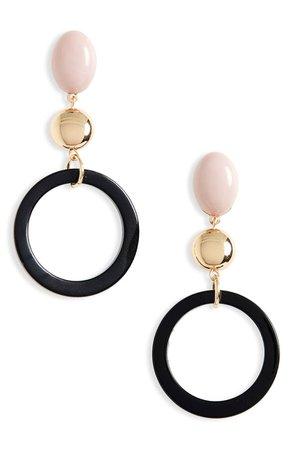 BP. Open Circle Resin Linear Earrings | Nordstrom