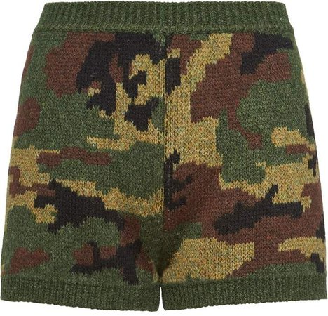knitted camouflage shorts