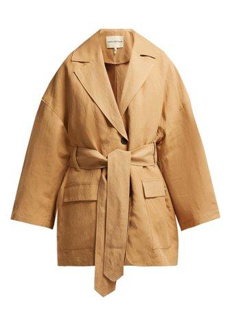 Atticus linen-blend jacket | Mara Hoffman | MATCHESFASHION.COM