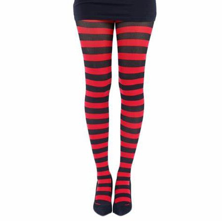 black and red tights