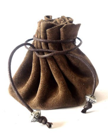 Brown Medieval Coin Pouch