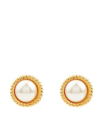 Kenneth Jay Lane Large Stud Earrings - Farfetch