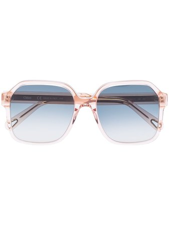 Chloé Eyewear Willow square-frame Sunglasses - Farfetch