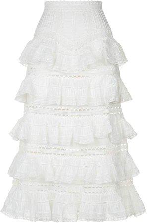 Heathers Tiered Ruffle Midi Skirt
