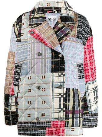 GANNI Patchwork Oversized Jacket - Farfetch