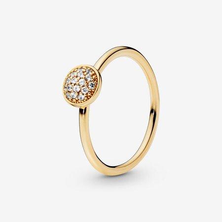 Pavé Ring - FINAL SALE | Gold | Pandora Canada