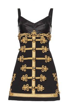 Dolce & Gabbana Braided Military Embroidery Mini Dress