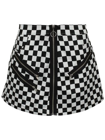 Fearless Illustration Checkerboard Mini Skirt - Buy Online at Grindstore.com