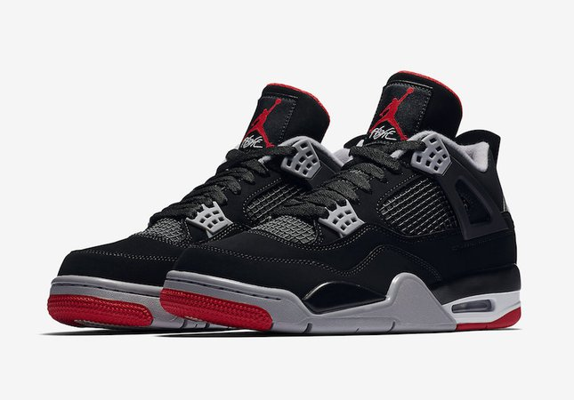 Nike Air Jordan 4 Bred Black Red 2019 Release Date | SneakerFiles