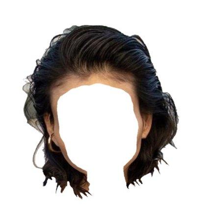 black short bob hair