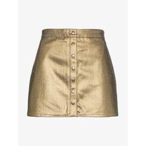 Saint Laurent metallic coated cotton mini skirt