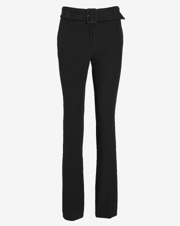 Mid Rise Supersoft Belted Bootcut Pant