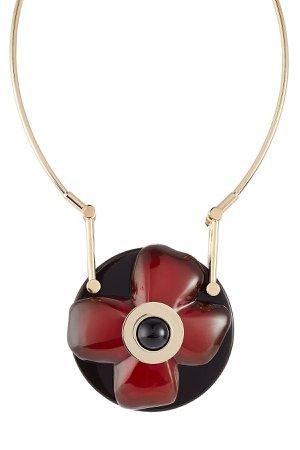 Flower Pendant Necklace Gr. One Size