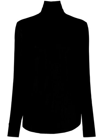 Rochas High Neck Blouse With Peephole Back - Farfetch