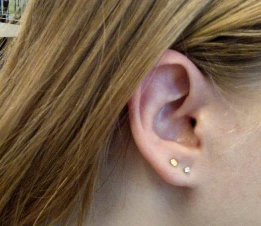 ear piercings two holes - Google Search