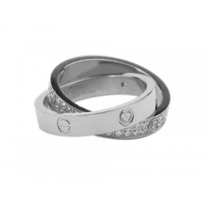 Cartier Infinity LOVE Ring in 18kt White Gold with Diamonds