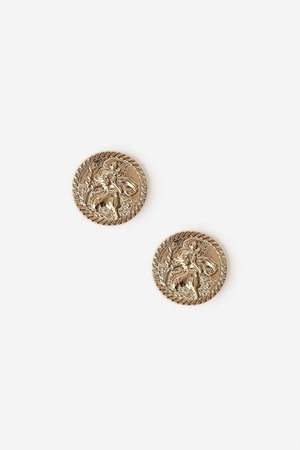 **Coin Stud Earrings - Jewelry - Bags & Accessories - Topshop USA