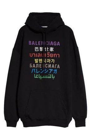 Balenciaga Oversize Logo Hoodie | Nordstrom