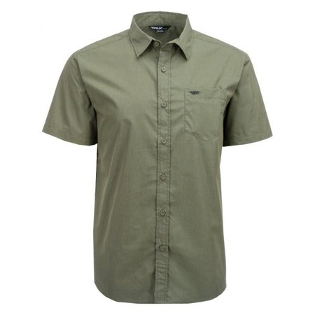 Fly Racing® 352-6185S - Button Up Men's Short Sleeve Shirt (Small, Olive Drab) $28.87